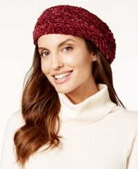 Charter Club Velvety Solid Chenille Beret Only At Macy's Ivory
