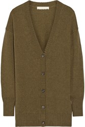 Vanessa Bruno Baladin Oversized Merino Wool And Yak Blend Cardigan Green