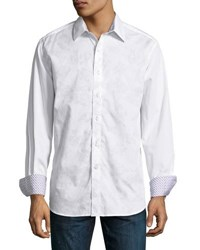 Robert Graham Trajans Column Woven Button Front Shirt Multi