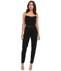 Nicole Miller Corded Lace Jumpsuit Black Women's Jumpsuit And Rompers One Piece