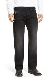 Men's Rock Revival 'Dan' Straight Leg Jeans Black