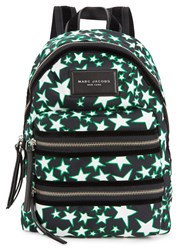Marc Jacobs Biker Mini Star Print Canvas Backpack Black