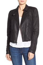 Women's Paige Denim 'Silvie' Suede And Leather Moto Jacket