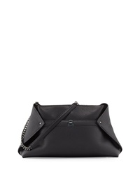 Akris Ai Medium Leather Messenger Bag Black