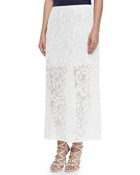Theory Delva Pleated Burnout Maxi Skirt Small