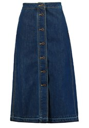 Only Onlashton Denim Skirt Dark Blue Denim