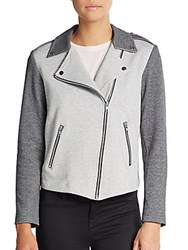 Generation Love Colorblock Moto Jacket Grey