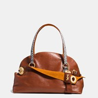 Coach 1941 Outlaw Satchel 42 In Colorblock Python Brass Brown