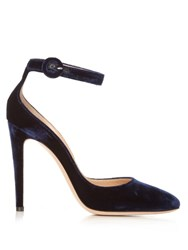 Gianvito Rossi Virna Velvet Pumps Navy
