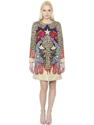 Mary Katrantzou Leopard Printed Wave Jacquard Coat