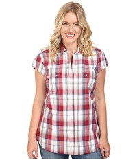 Roper Plus Size 0399 Marble Plaid Red Women's Clothing