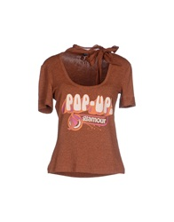 Dandg D And G T Shirts Brown