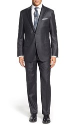 Men's Big And Tall Hickey Freeman 'Beacon B Series' Classic Fit Solid Wool Suit Grey