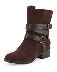 K. Jacques Riley Suede Moto Boot Brown
