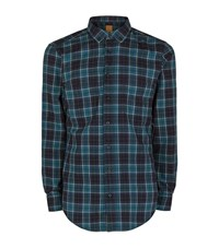 Boss Orange Checked Shirt Male Forest