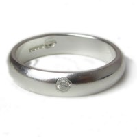 Catherine Marche Sterling Silver And Diamond Wedding Ring