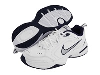 Nike Air Monarch Iv White Metallic Silver Midnight Navy Men's Cross Training Shoes