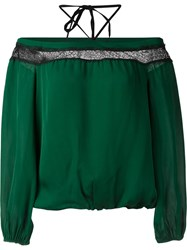 Alice Olivia Off Shoulder Blouse Green