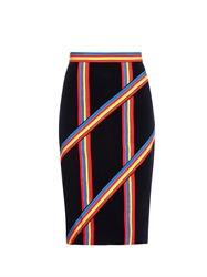 Peter Pilotto Stripe Panelled Pencil Skirt
