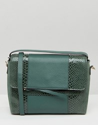 Urbancode Faux Snake Mix Bag Forest Green