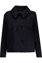 Nlst Double Breasted Cotton Jacket Navy
