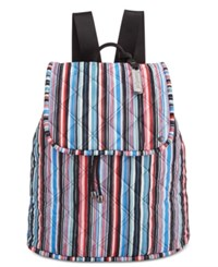 Le Sport Sac Lesportsac Beverly Quilted Backpack Watercolor Stripe Quilted