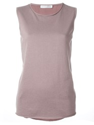 Fabiana Filippi Satin Tank Top Pink And Purple
