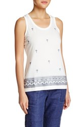 Tommy Bahama Presley Palm Tree Tank White