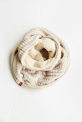 Bickley Mitchell Bickley And Mitchell Pointelle Knit Eternity Scarf Ivory