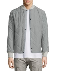 Rag And Bone Focus Quilted Button Up Jacket Moon Mist