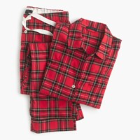 J.Crew Classic Tartan Flannel Pajama Set Red Black Multi