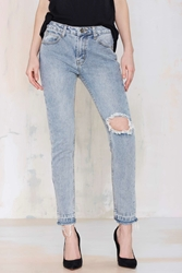 Nasty Gal Unif Vick Distressed Jeans