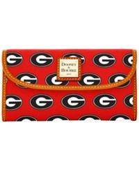 Dooney And Bourke Georgia Bulldogs Ncaa Large Continental Clutch Red