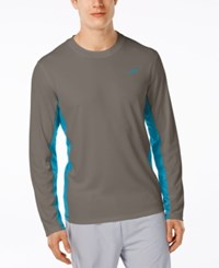 Speedo Men's Longview Crew Neck Swim Shirt Granite