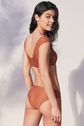 Out From Under Cassie Ribbed Bikini Bottom Bronze