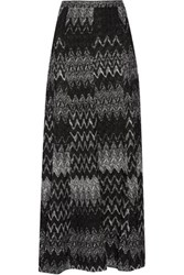 Missoni Metallic Crochet Knit Maxi Skirt Multi