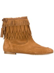 Aquazzura 'Tiger Lily' Ankle Boots Brown