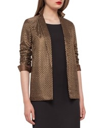 Akris Icone St. Gallen Basketweave Jacket Bronze