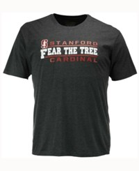 Colosseum Men's Stanford Cardinal Verbiage Stack T Shirt Charcoal