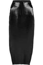 Vivienne Westwood Coated Stretch Knit Midi Skirt Black