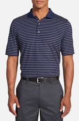 Men's Bobby Jones 'Xh20 Pencil Stripe' Regular Fit Four Way Stretch Golf Polo Summer Navy