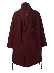 Uma Wang Double Breasted Coat Red