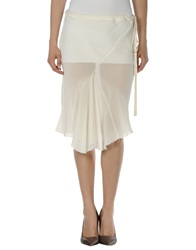 Ann Demeulemeester Knee Length Skirts Ivory