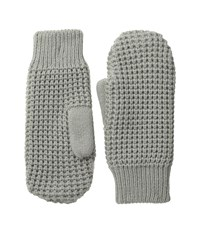 Hat Attack Waffle Stitch Mitten With Lining Light Grey Liner Gloves Gray