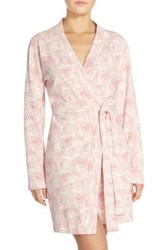 Ugg 'Clio Island' Floral Print Waffle Knit Robe Pink