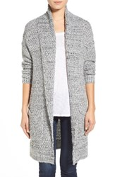 Women's Hinge Marled Long Open Front Cardigan