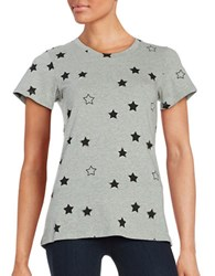 French Connection Embellished Star Tee Grey Black