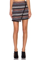 Sam Edelman Hope Stripe Skirt Black