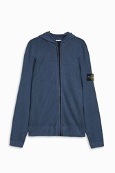 Stone Island Cash Zip Through Hoodie Grey