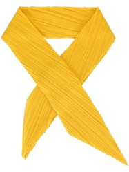Issey Miyake Pleats Please By Pleated Scarf Yellow Orange